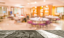 Chinese restaurant blur background with bokeh image Stock Image