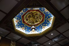 Chinese restaurant ceiling royalty free stock photo
