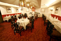 Chinese restaurant dining room Stock Images