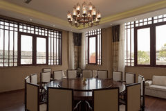 Chinese restaurant Dining room . Royalty Free Stock Image