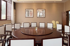 Chinese restaurant Dining room . Stock Images