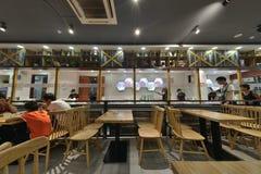 Chinese Restaurant interior design. Chinese fast food restaurant interior design royalty free stock photos