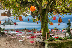 Chinese restaurant on Lake Hallstatt Stock Images