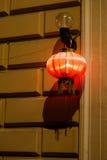 Chinese restaurant lantern at night Royalty Free Stock Photography