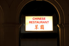 Chinese restaurant neon sign Royalty Free Stock Photo