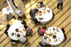 Chinese restaurant. An overhead view Stock Image