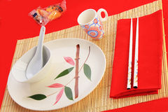 Chinese Restaurant Place Setting Royalty Free Stock Photography