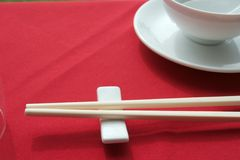Chinese restaurant table setup. The chinese restaurant table setup Stock Photography