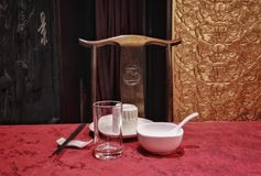 Chinese restaurant tableware. Tablewareof a chinese restaurant in beijing Stock Photos