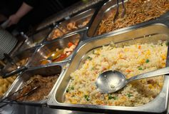 Chinese restaurant with tasty food and rice Stock Image