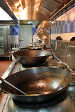 Chinese restaurantkeuken Stock Afbeelding