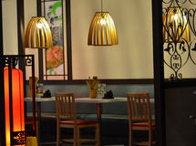 Chinese restaurants. Interior of a Chinese restaurant Royalty Free Stock Images