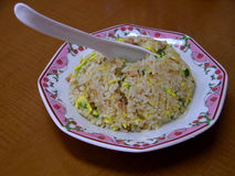 Chinese rice. Some rice prepared in a Chinese way,containing vegetables meat and eggs Royalty Free Stock Images