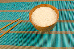 Chinese rice and chopsticks Royalty Free Stock Image