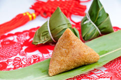 Chinese rice dumplings Stock Photography