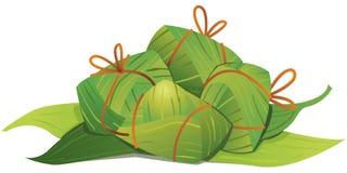 Chinese Rice Dumplings illustration Stock Photos