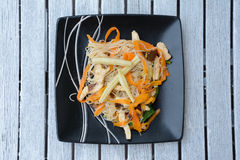 Chinese rice noodles with vegetables Royalty Free Stock Photos