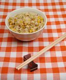 Chinese rice on a table royalty free stock images