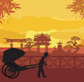 Chinese rickshaw Royalty Free Stock Photography