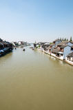 Chinese RIver Town Royalty Free Stock Photography