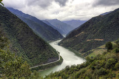 Chinese River Valley stock image