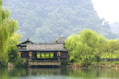 Chinese Riverside House Royalty Free Stock Image