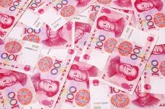 Chinese RMB muntachtergrond Royalty-vrije Stock Afbeeldingen