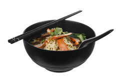 Chinese roast pork noodle bowl Royalty Free Stock Photography
