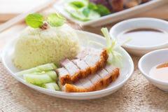Chinese roasted pork Stock Photo