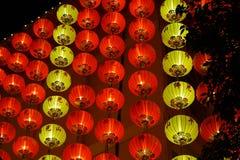 Chinese Rode Lantaarn bij Nacht Royalty-vrije Stock Afbeeldingen