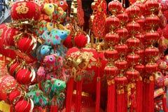 Chinese rode lantaarnachtergrond in Chinees nieuw jaarfestival Word maken de middelen goede dagen, de lentefestival, een fortuin stock afbeeldingen