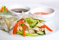 Chinese rolls with vegetables Royalty Free Stock Images