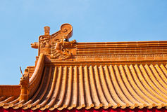 Chinese roof art Royalty Free Stock Image