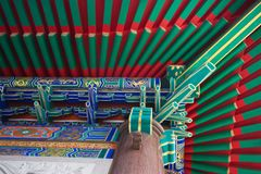 Chinese roof of baromraja temple thailand Stock Photography