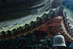 Chinese Roof with Bell Royalty Free Stock Image