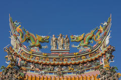 Chinese roof from Chinese temple Royalty Free Stock Photos