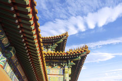 Chinese roof decoration in imperial palace Stock Photography