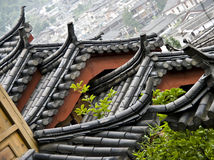 Chinese roof, Lijiang, China Stock Images