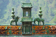 Chinese roof ridge Royalty Free Stock Images