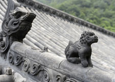 Chinese roof sculpture Royalty Free Stock Photos