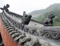 Chinese roof sculpture Royalty Free Stock Images