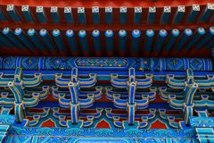 Chinese roof. Stylish national ornament Stock Photos