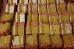 Chinese roof tile Stock Images
