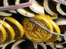 Chinese Roof Tiles Stock Photo