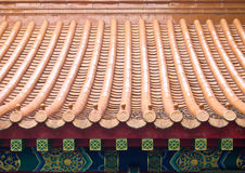 Chinese Roof Tiles. Ceramic roof tiles of chinese house Royalty Free Stock Photography