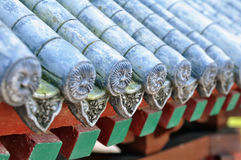 Chinese roof tiles Royalty Free Stock Image