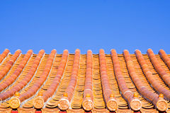 Chinese roof tiles Royalty Free Stock Photos