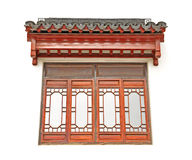 The Chinese roof and window Royalty Free Stock Images