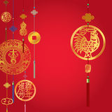 Chinese Rooster Year decorative background Royalty Free Stock Image