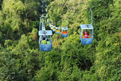 Chinese Ropeway Over the Rain Forest Royalty Free Stock Photo
